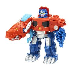 Kid-sized 2-in-1 Rescue Bots figure Figure looks like the Optimus Prime character Converts fast from robot mode to semi truck mode and back.   toys4mykids.com