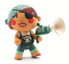 Amazon.com: Arty Toys / Caraiba Poseable Pirate Figurine by Djeco: Toys & Games