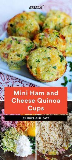 Mini Ham and Cheese Quinoa Cups