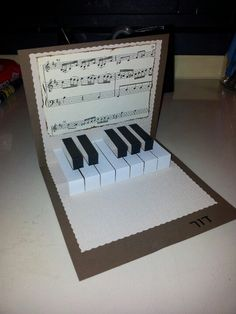 Great For The Music Lover Musicanmaybe Alter Change To Other Themes Paper Crafts Birthday Cards