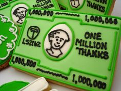 Money cookies - one million thanks