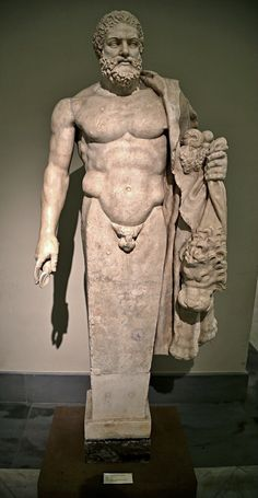 Herm of Hercules. 2nd.century. A.D. Roman. marble. National Archaeological Museum. Naples. roman