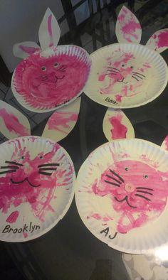 Easter. Preschool bunny craft!