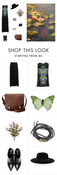"""""""Romantic Amanda"""" by aliceingothland ❤ liked on Polyvore featuring River Island, Givenchy, FOSSIL, Pascale Monvoisin, Yves Saint Laurent and Warehouse"""