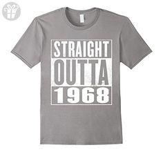 Men's 48th Birthday Gift T-Shirt - STRAIGHT OUTTA 1968 Shirt Medium Slate - Birthday shirts (*Amazon Partner-Link)