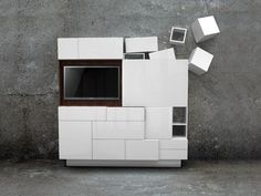 Sectional TV wall system DRIFT CABINET by Vitamin