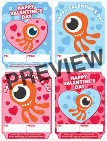 Free JellyTelly Valentines!  Plus a chance to win a date night that includes money for babysitting!