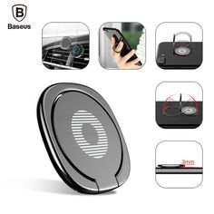 Baseus Universal Mobile Phone Stand 360 Finger Ring Desk Stand Holder Fit For iphone6s 7 Magnetic Car Bracket Phone Holder Stand