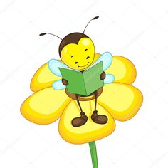 Illustration about Editable vector bee reading on a flower. Illustration of honey, activity, antenna - 25662144 Jolly Phonics Activities, Flower Vector Art, Bee Clipart, Cartoon Bee, Editable, Page Borders Design, Clay Wall Art, School Frame, Bee Cards