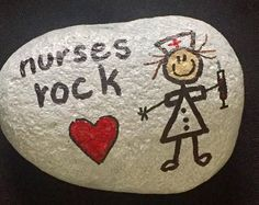 NURSES ROCK - Hand Painted Rock