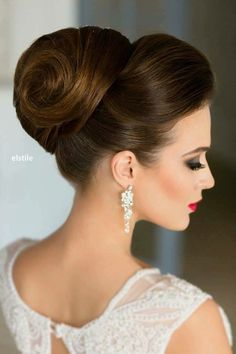 Beautiful hairdressing bar 2018 in daily and evening version, cool photo ideas - kurze frisuren - Wedding Hairstyles Classic Updo Hairstyles, Simple Wedding Hairstyles, Formal Hairstyles, Hairstyles 2018, Hairstyles Pictures, High Bun Hairstyles, Evening Hairstyles, Stylish Hairstyles, Blonde Hairstyles