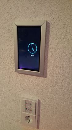 A nice result of a tablet holder Tablet Mount, Tablet Holder, Home Automation, Smart Home, Wall Mount, Mirror, Studio, Nice, Room