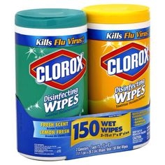 Clorox Disinfecting Wipes, Fresh Scent & Lemon Fresh 2 canisters - Kmart Homemade Clorox Wipes, Lysol Disinfecting Wipes, Sugar Scrub Diy, Diy Scrub, Cleaning Spray, Cleaning Wipes, Listerine Foot Soak, Sunburn Relief, Wipes Case