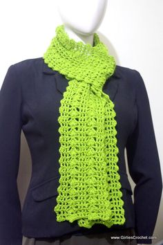 eunice scarf, free crochet pattern