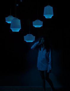 Paper shades that glow in the dark by Ontwerpduo * Shock of the Lighting * The Inner Interiorista