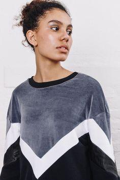 sweatshirt dress / velour dress / color block dress / leather sweatshirt dress / grey dress / over sized dress by RIYKA on Etsy