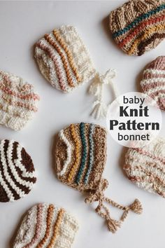 Baby Bonnet Knitting Pattern, Simple and Easy Baby Knit Pattern, Handmade Baby Shower Gift, Beginner Knitting Patterns. – Knitting For Beginners 2020 Baby Bonnet Pattern, Baby Hat Patterns, Knit Patterns, Sewing Patterns, Beginner Knitting Patterns, Knitting For Beginners, Knitted Baby Clothes, Knitted Hats, Baby Boy Hats