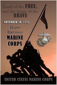 A very Happy Birthday to the US Marine Corps. It is with great joy that this Marine Mom gets to recognize the anniversary and birthday of the USMC Usmc Birthday, Wife Birthday Quotes, Marine Corps Birthday, 50th Birthday Cakes For Men, 50th Birthday Gag Gifts, Birthday Sayings, Very Happy Birthday, Happy Birthday Images, Happy Birthday Greetings
