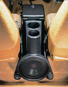 All Things Jeep - The Intra-Pod Sound System with 8 Inch Power Acoustik Subwoofer for Jeep CJ and Wrangler YJ 1955-1995 in Black by Select Increments