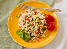 Coconut Rice with vegetables and pickled peppers