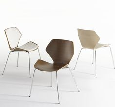 Davis Furniture's Ginkgo chair, just a perfect little chair, also comes with a wood leg