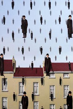 #Wallpaper #ArtGallery #RenéMagritte #Golconda #Screenja Magritte Art, Magritte Paintings, Surealism Art, Kandinsky Art, Surrealism Painting, Painting Wallpaper, Art Moderne, Weird Art, Surreal Art