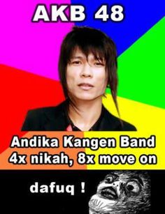 Indonesian singer's humor. In his reality, it's heard hurting.