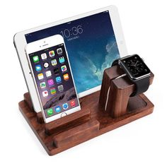 Apple Watch Stand, Aerb Rosewood Charge Dock Holder for Apple Watch & Docking Station Cradle Bracket for iPod iPhone iPad & Other Phones Tablets Apple Watch Iphone, Ipad Stand, Phone Stand, Iphone 7, Ipod, Watch Holder, Android, Kindle, Usb