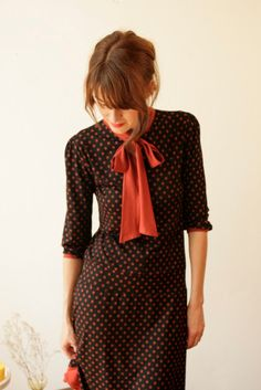Retro dot dress