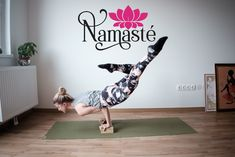 Perfect wall sticker addition to your yoga studio or home space!