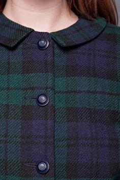Detail ~ Women's Suit ~ Black Watch Tartan.