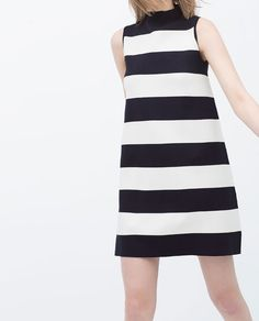 ZARA - WOMAN - STRIPED TURTLENECK DRESS