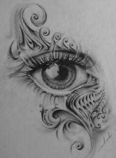 Your eye – Art Ideas Tattoo Design Drawings, Cool Art Drawings, Pencil Art Drawings, Art Drawings Sketches, Sketch Tattoo, Tribal Drawings, Eye Drawings, Art Illustrations, Body Art Tattoos
