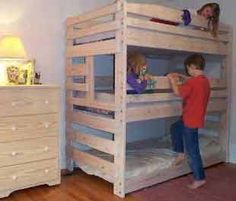 Bunk Bed Plans You Can Build for Kids and Adults. Loft Bed Plans too!