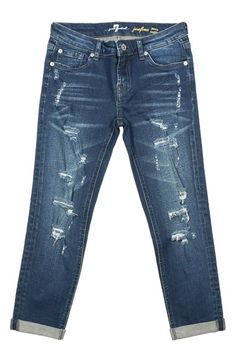 7 For All Mankind® 'Josefina' Boyfriend Jeans (Little Girls)