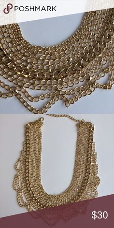 Gold tone statement necklace Versatile must-have piece T&J Designs Jewelry Necklaces