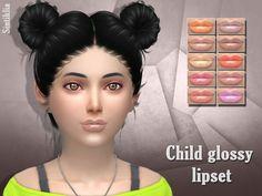 Lana CC Finds - Child glossy lipset 2