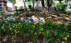 """Honduras: Emblemático parque convertido en basurero. El emblemático parque-mirador La Leona, en el barrio del mismo nombre, en Tegucigalpa, se ha convertido en un """"segundo crematorio"""", donde ciudadanos lanzan desechos de todo tipo, a modo que se ha perdido su esplendor y ahora luce sucio."""