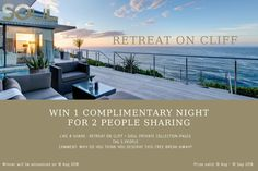 IT IS WINNING TIME!!!! Here is your chance to WIN 1 COMPLIMENTARY NIGHT at our Boutique Hotel in Knysna!  All you have to do is the following: LIKE & SHARE OUR PAGES: RETREAT ON CLIFF + SOUL PRIVATE COLLECTION  TAG 5 PEOPLE COMMENT: TELL US WHY YOU DESERVE TO WIN.  #soulprivatecollection #retreatoncliff #luxuryliving #luxurylistings #explorefever #travelhoster #boutiquehotels #luxurycollection #luxuryescapes #secretescapes #iescape   #wanderlust #instatravel #gardenroute #southafrica Winning Time, Secret Escapes, Luxury Escapes, Knysna, Holiday Destinations, Luxury Living, Cliff, Boutique, Night