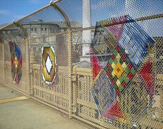 Yarn Bombing Graffiti Art