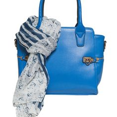 Elise Hope Two-Fer Deal! Get Both the Manhattan Shoulder Bag in Cobalt and Anchors Away Scarf for only $95 & Free Shipping! (a $116 value) by Elise Hope on Opensky