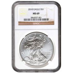 Buy 2010 1 oz Silver American Eagles (NGC MS69) - Silver.com