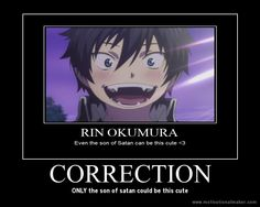 funny blue exorcist posters | deviantART: More Like Rin Motivational by Nightmare-maker