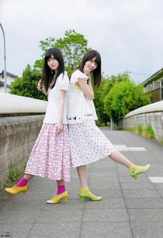 日々是遊楽也 — neverendworld: Ranze & Asuka - UTB 2016.09 Saito Asuka, Stage Outfits, Photo Poses, Cute Girls, Harajuku, Midi Skirt, Beautiful Women, Kawaii, Actresses