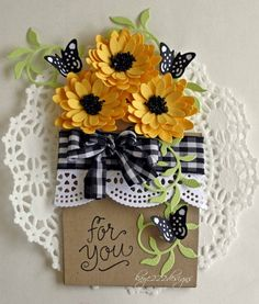 Hi everyone! I'm so excited to share this flower pot card using Cheery Lynn Designs  Dies with you today! I have seen several of these ...