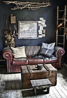 Couch for a manly office