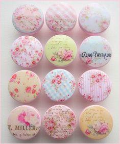 Dresser Knobs - Shabby Rose Knobs - Rose Knobs - Drawer Pulls  - Cottage Roses - Vintage Floral