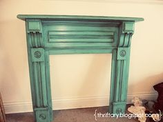 diy faux mantel