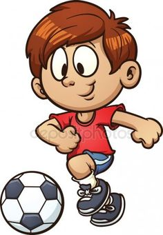 Soccer Kid by memoangeles Cartoon kid playing soccer. Vector clip art illustration with simple gradients. All in a single layer. Kids Soccer, Play Soccer, Cartoon People, Cartoon Kids, School Clipart, Sports Day, Free Cartoons, Stick Figures, Cartoon Characters