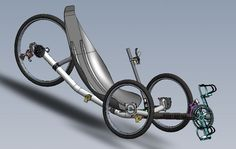 CAD image of Windcheetah recumbent trike, designed by Mike Burrows Velo Design, Bicycle Design, Recumbent Bicycle, Cool Bikes, Road Bike, Industrial Design, Inventions, Evolution, Cycling